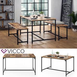 Vicco Esstisch Küchentisch 140x90 Fyrk Esszimmertisch Kaffeetisch Metallgestell