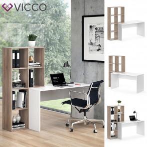 Vicco Schreibtisch mit Regal Mara Sonoma