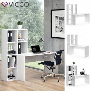 Vicco Schreibtisch mit Regal Mara Weiß