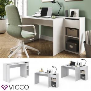 Vicco Schreibtisch Ben Weiß ausziehbar