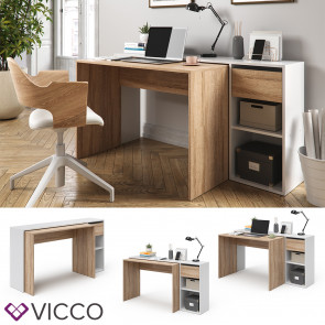 Vicco Schreibtisch Ben Weiß-Sonoma ausziehbar