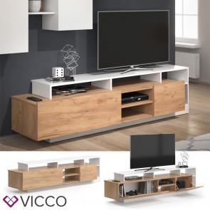 Vicco Lowboard Linnea Weiß Gold Craft