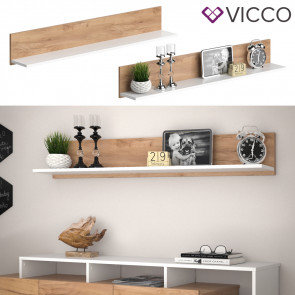 Vicco Wandregal Linnea Weiß Gold Craft