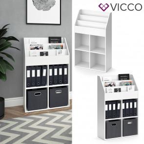 VICCO Bücherregal LUIGI weiß 114 cm
