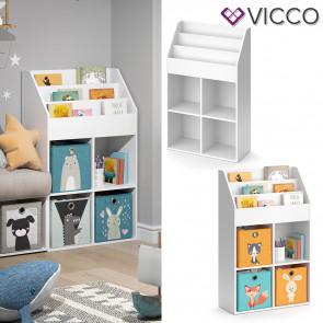 VICCO Kinderregal LUIGI weiß 114 cm