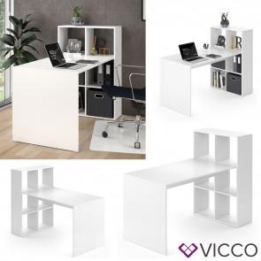 Vicco Schreibtisch Emir Regalkombination Weiß