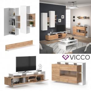 Vicco Wohnlandschaft Linnea Weiß Gold Craft