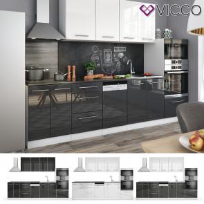 VICCO Küche FAME-LINE Küchenzeile Einbauküche 295cm