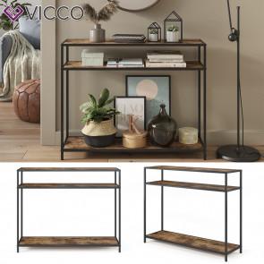 Vicco Konsolentisch Beistelltisch Flurtisch Fyrk 100x80x30cm mit Ablage Tisch