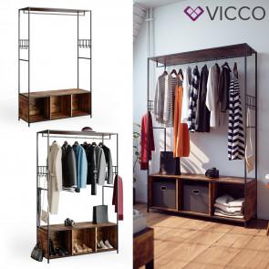 Vicco Kleiderschrank Garderobenschrank Fyrk Schlafzimmer Sitzbank Schuhschrank