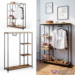 Vicco Kleiderschrank Garderobenschrank Fyrk Schlafzimmerschrank Kleiderstange
