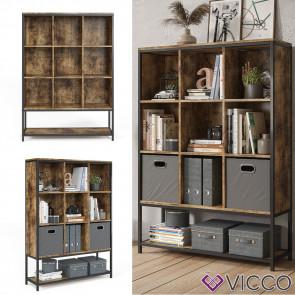 Vicco Bücherregal Raumteiler Standregal Fyrk 9 Fächer Ablage Aufbewahrungsregal