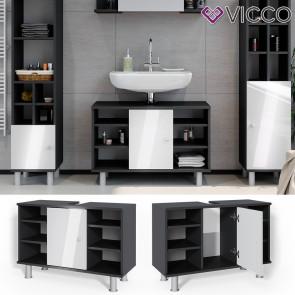 Vicco Waschtischunterschrank Fynn 80 cm Anthrazit Weiß