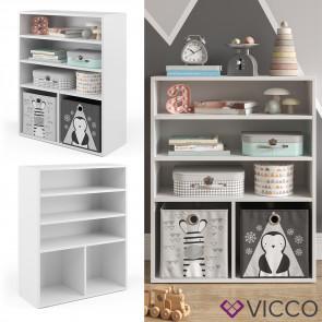 Vicco Kinderregal für 2 Faltboxen weiß