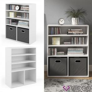 Vicco Bücherregal für 2 Faltboxen weiß