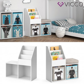 Vicco Kinderregal Luigi mini weiß