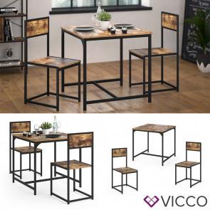 Vicco Essgruppe Sitzgruppe Küchentisch Set Fyrk Esstisch 80x80cm 2 Küchenstühle