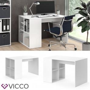 Vicco Schreibtisch Adeon mit Regal Weiß