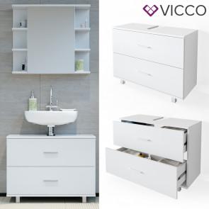 VICCO Waschtischunterschrank 80cm ILIAS Weiß