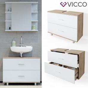 VICCO Waschtischunterschrank 80cm ILIAS Sonoma-Weiß