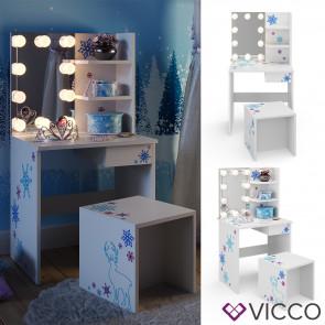 Vicco Kinderschminktisch Weiß + LED