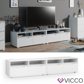 Vicco Lowboard Ruben 200cm weiß