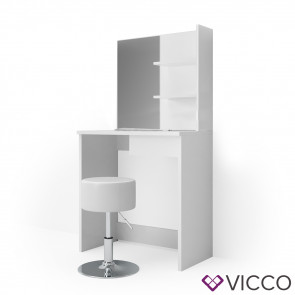 Vicco Schminktisch DEKOS Weiß mit Design Hocker