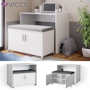 Vicco Schreibtisch Bürotisch Sitzbank gepolstert Flona Esstisch Schminktisch