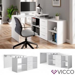 Vicco Schreibtisch Dante Weiß
