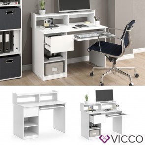 Vicco Computertisch Keno Weiß