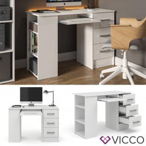 Vicco Computertisch Dallas mit Regal Weiß
