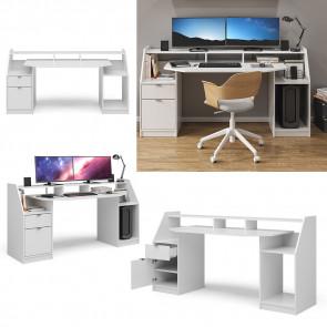 VICCO Schreibtisch JOEL Groß Weiß