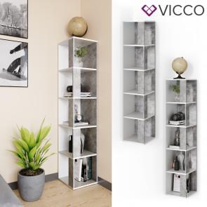 Vicco Eckregal Lio beton-weiß