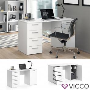 Vicco Schreibtisch Computertisch Bürotisch Nico weiß