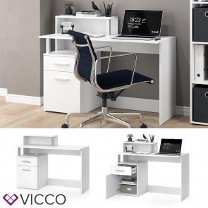 Vicco Schreibtisch Arbeitstisch Computertisch Nord PC-Tisch Ablagen Bürotisch