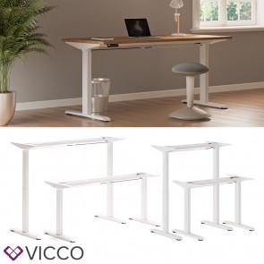 Vicco Schreibtisch Gestell elektrisch höhenverstellbar ausziehbar ergonomisch Weiß