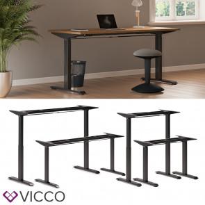 Vicco Schreibtisch Gestell elektrisch höhenverstellbar ausziehbar ergonomisch Schwarz