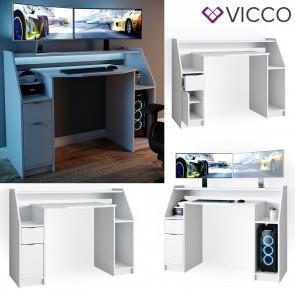 VICCO Gamingtisch JOEL Weiß