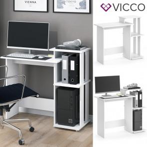Vicco Schreibtisch Computertisch Uno Weiß
