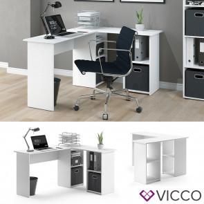 VICCO Eckschreibtisch CARLO Weiß