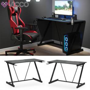 Vicco Gaming Tisch Schreibtisch Hudson Z-Form