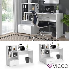 VICCO Schreibtisch LORIS Weiß