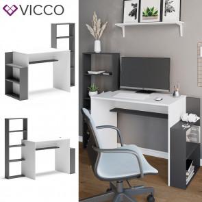 Vicco Schreibtisch Arbeitstisch Computertisch Bill PC-Tisch Ablagen Bürotisch