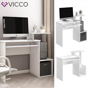 Vicco Schreibtisch Arbeitstisch Computertisch Karl PC-Tisch Ablagen Bürotisch