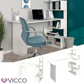 Vicco Schreibtisch Arbeitstisch Computertisch Matrix PC-Tisch Ablagen Bürotisch