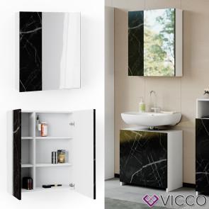 Vicco Badschrank Spiegelschrank Nero Marmoroptik