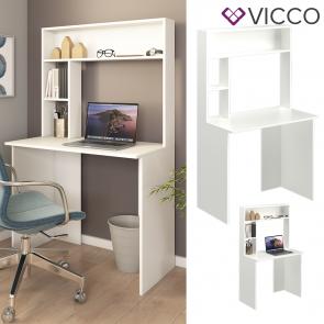 Vicco Schreibtisch Arbeitstisch Computertisch Albano PC-Tisch Ablagen Bürotisch