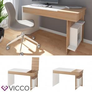 Vicco Schreibtisch Enea Arbeitstisch Computertisch PC Bürotisch Weiß Sonoma
