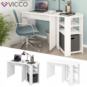 Vicco Schreibtisch Manuel Arbeitstisch Computertisch PC-Tisch Ablagen Bürotisch