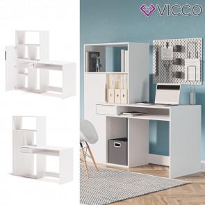 Vicco Schreibtisch mit Regal Samuel Arbeitstisch Computertisch Ablagen Bürotisch